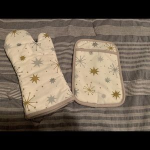Kate spade sparkle potholder and oven mitt